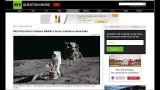 Russians believe in Flat Earth, and most think US moon missions are fake - Russia Today ✅
