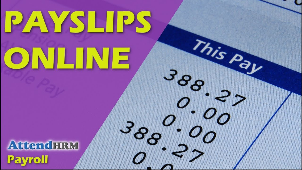 Payslips Online   YouTube  Payslip Template Free Download