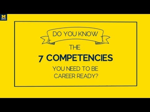 The Career Center Presents: 7 Competencies You Need To Be Career Ready