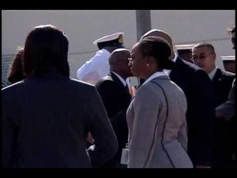 Arrival of the Belize PM.wmv