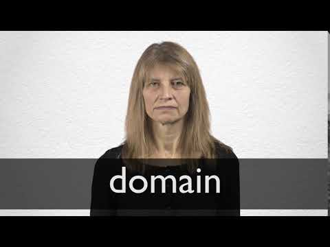 How to pronounce DOMAIN in British English