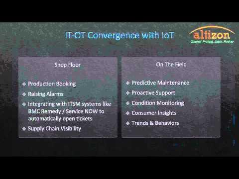 Webinar: Leveraging IoT for IT/OT convergence