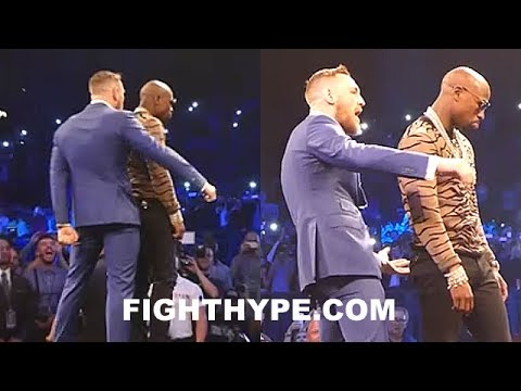 Thumbnail: CONOR MCGREGOR TAUNTS MAYWEATHER AS HE DANCES UP ON HIM TO SPANK DAT ASS