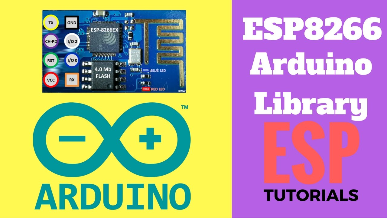 ESP8266 Library For Arduino IDE - Installation Steps | myelectronicslab com