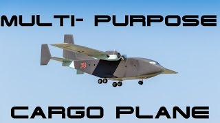 Multi-Purpose Cargo Plane/ модель грузового самолета(The basis is taken Twins. He was going to start. Decision on amendments made in the process. It cuts off the entire front and made the bulk of izopinka., 2016-02-24T21:26:01.000Z)