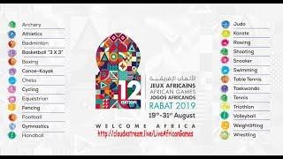 live Stream Football | 12th African Games, Rabat - Morocco 2019