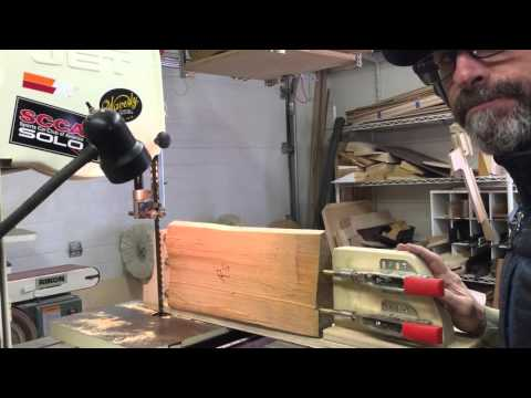 Resawing mandolin tops Pt.1