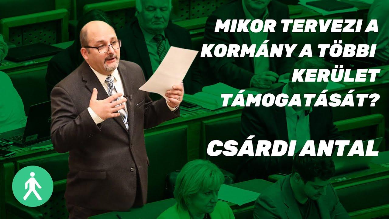 Mikor tervezi a kormány a többi kerület támogatását? - Csárdi Antal   LMP   Parlament