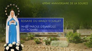 Rosaire du mardi 13 juillet, replay