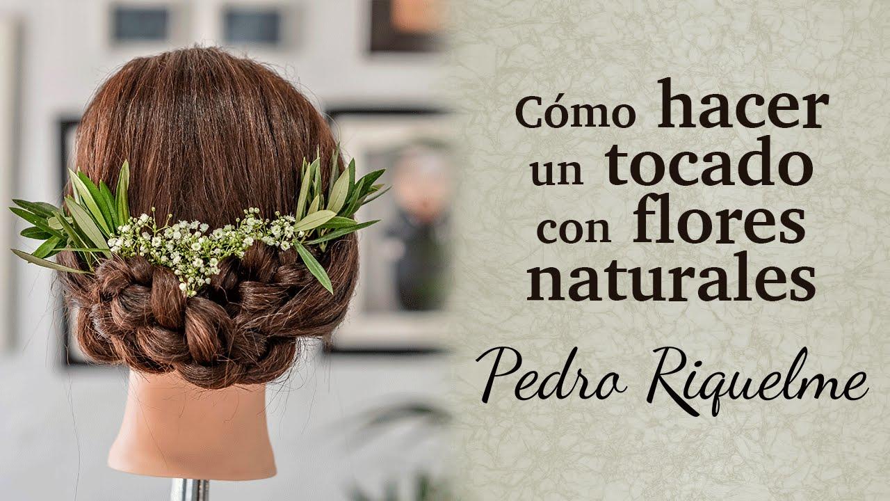 C mo hacer un tocado con flores naturales de paniculata y for Como hacer adornos con plantas naturales