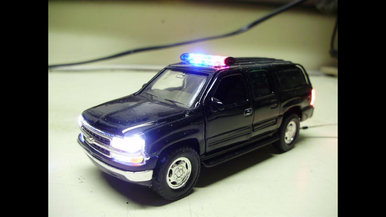 Custom 1 43 Scale Chevrolet Suburban Police Escort Diecast