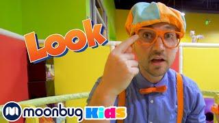 Blippi Learns the 5 Senses - Blippi   Kids Cartoons & Nursery Rhymes   Moonbug Kids