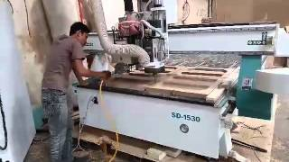 automatic tool changer cnc router machine with hsd drill bank in indonesia
