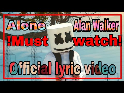 Alone by Alan Walker|Official lyric video|Sad song |Fantastic Bro
