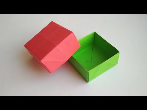 Как сделать коробочку из бумаги без клея с крышкой