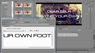 как сделать лирик видео в sony vegas