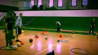 Elementary physical education loco-motor lesson plan with 5 instant activities.