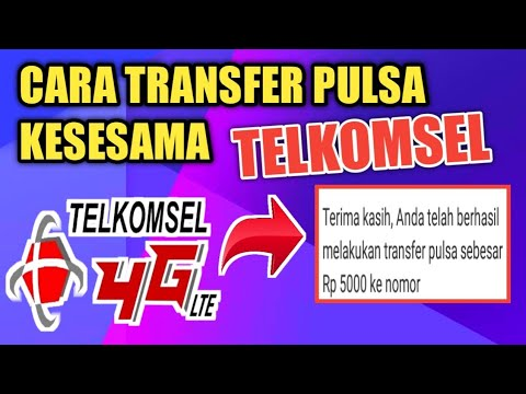 Cara Transfer Pulsa Telkomsel Youtube