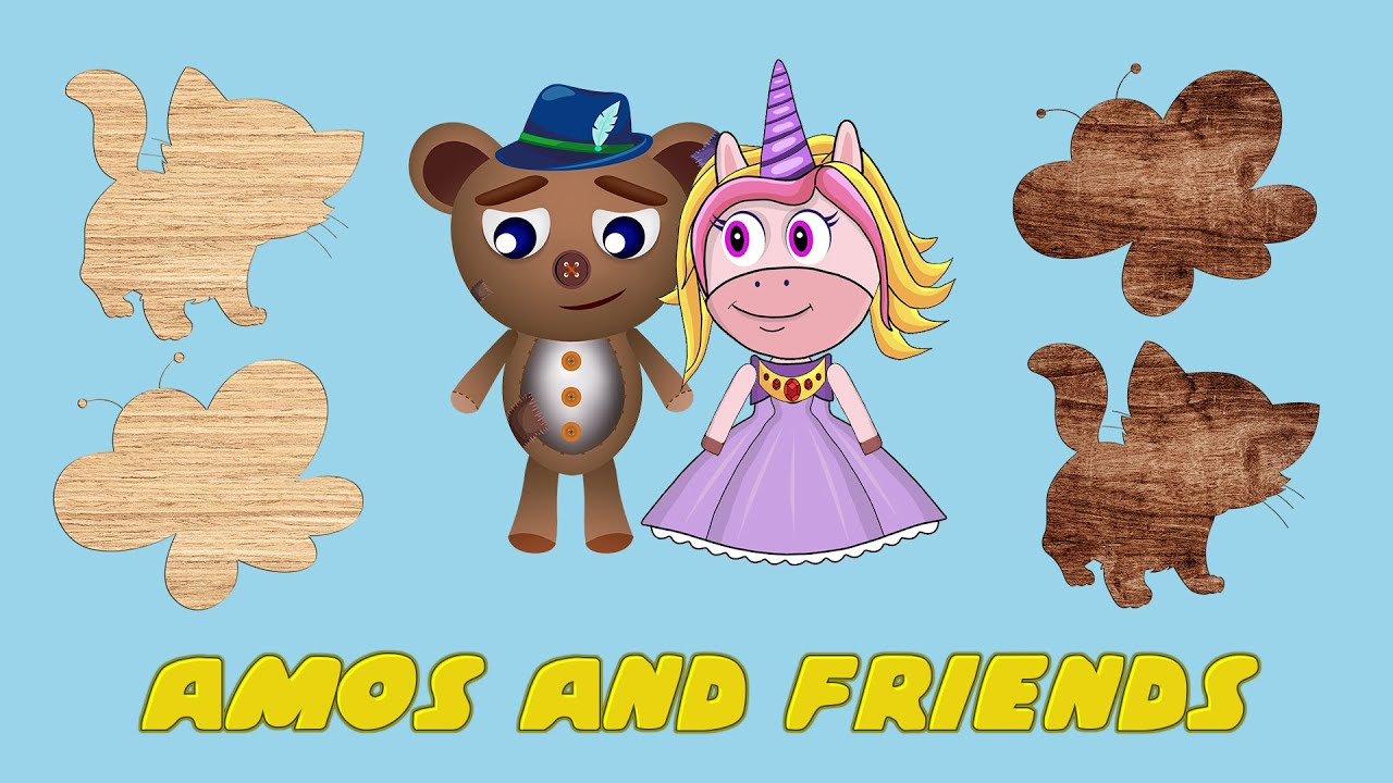 Amos and friends - Match the tiles for kids with cute animals vol 10
