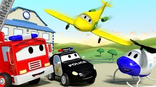 Penny the Plane,  the new member of the crew !! - The Car Patrol in Car City l Cartoons for Children