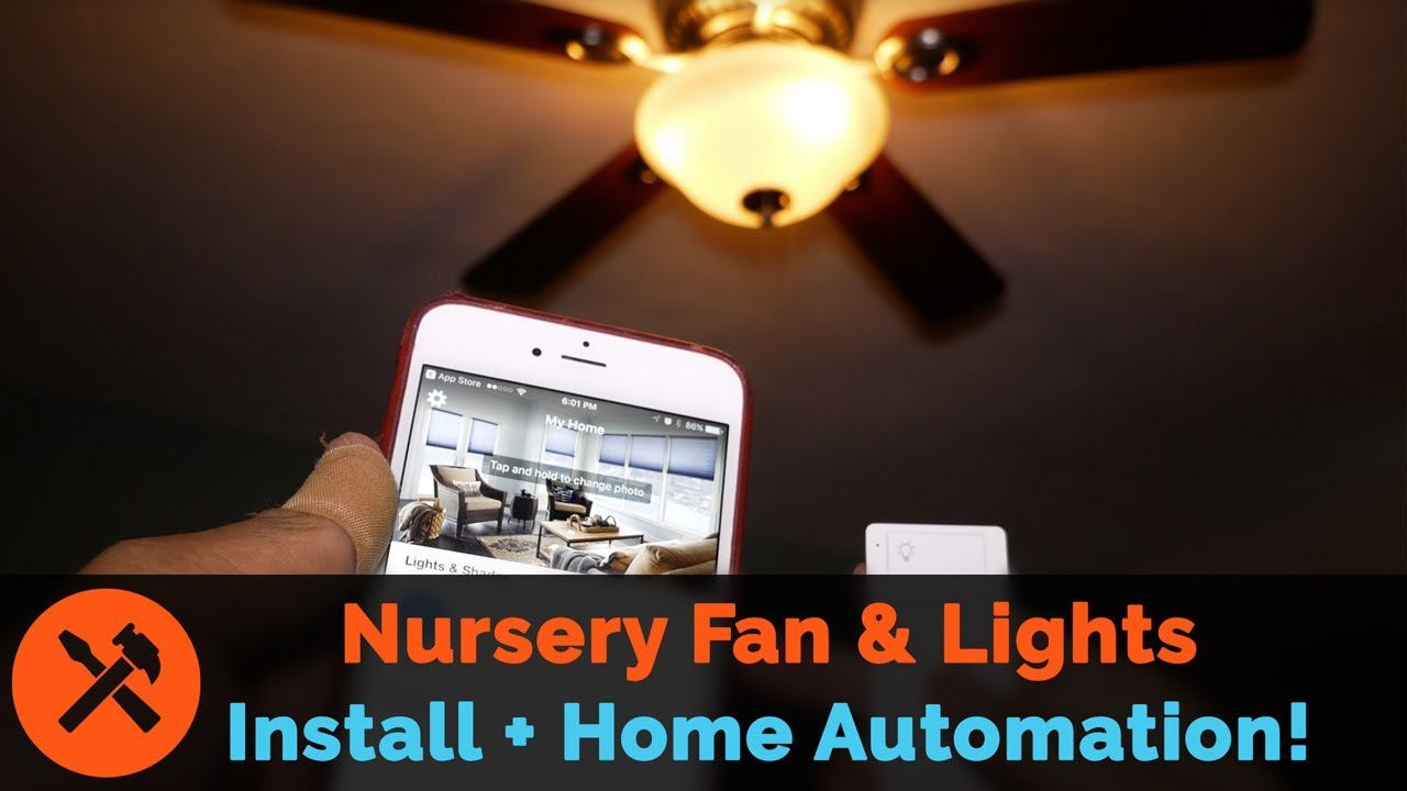 Smart Ceiling Fan Installation With Lutron Caseta Lights And Home Wiring Remote Wall Switch Automation
