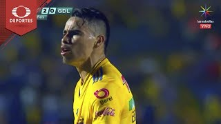 Gol de Lucas Zelarayán | Tigres 2 - 0 Chivas | Clausura 2019 - J17 | Televisa Deportes