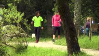 Lindsey Vonn cross trains with LEKI Nordic Walking Poles