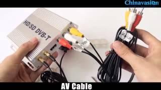 Обзор Mobile Car DVB T Digital TV Receiver   $94 12