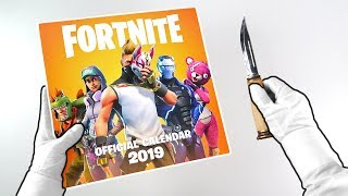 Fortnite 2019 Calendar Unboxing + Deep Freeze Skin Bundles + Season 7 Battle Royale