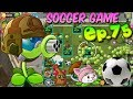 Plants vs. Zombies 2 (China) - SOCCER Game - Pretty Little Plum, Cattail, Gatling Pea (Ep.75)
