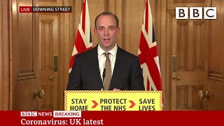 Coronavirus: Rescue flights for stranded Britons - UK Government Briefing