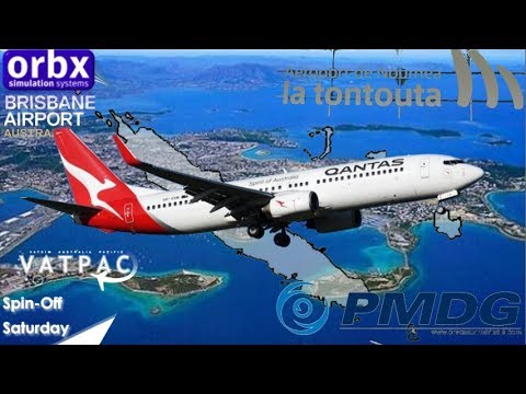 PMDG 737 in Vatpac Spillover Saturday, Brisbane to Noumea La Tontouta
