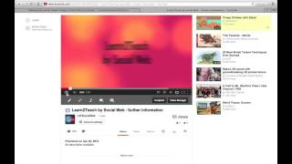 Learn2Teach by Social Web - uploading a YouTube clip to the curriculum wiki
