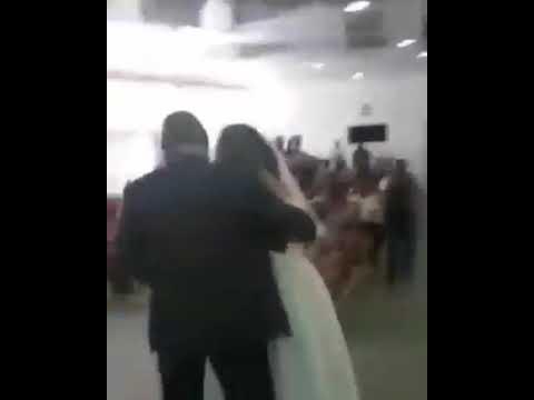 Side Chick Attends Her Boyfriend's Church Wedding In Her Wedding Gown (Video)