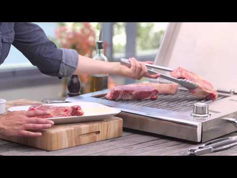 Steak & Asparagus on the Lynx Downtown Electric Grill | Williams-Sonoma