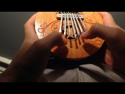 Star Wars cover on a coconut (Indonesian thumb piano/kalimba)