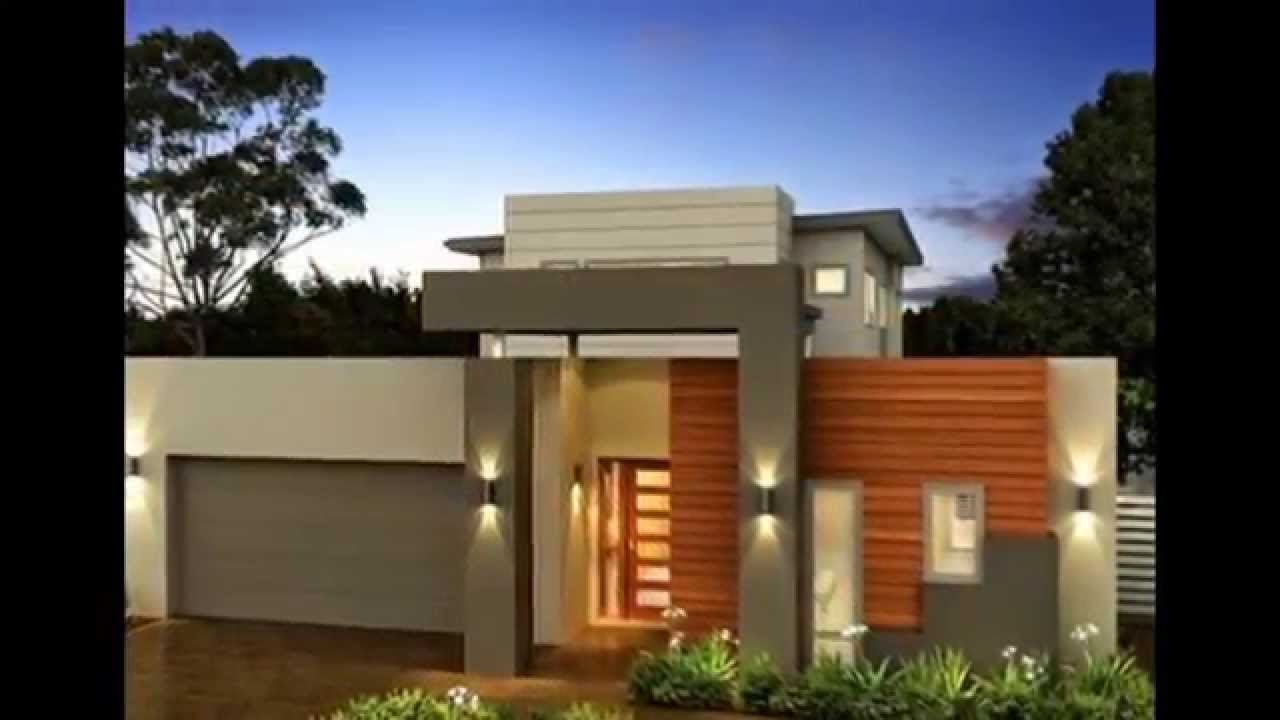 Dise os de fachadas 2015 de viviendas modernas youtube for Frentes de casas minimalistas
