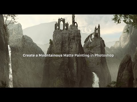 How to Create a Mountainous Matte Painting in Photoshop   BabArt iR