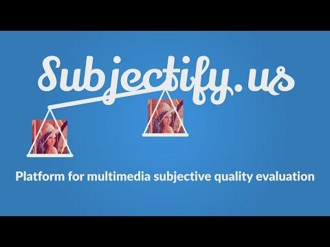 Platform for subjective comparisons of video/image processing algorithms