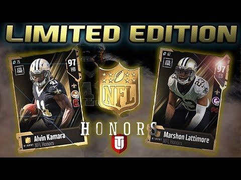 NFL HONORS ALVIN KAMARA AND MARSHON LATTIMORE   MADDEN 18 PACK OPENING