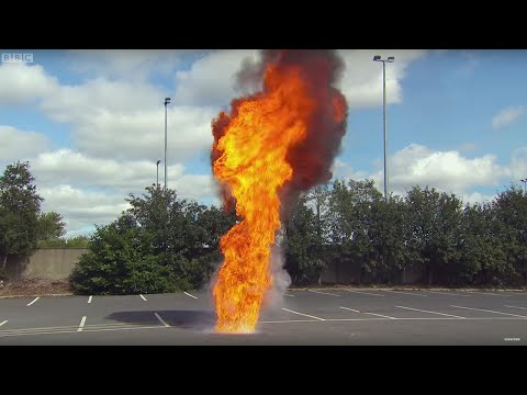 DANGER! Throwing Water On Oil Fire - Factomania - Brit Lab - BBC