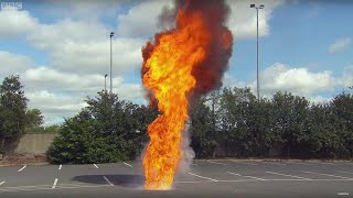 DANGER! Throwing Water On Oil Fire | Earth Lab