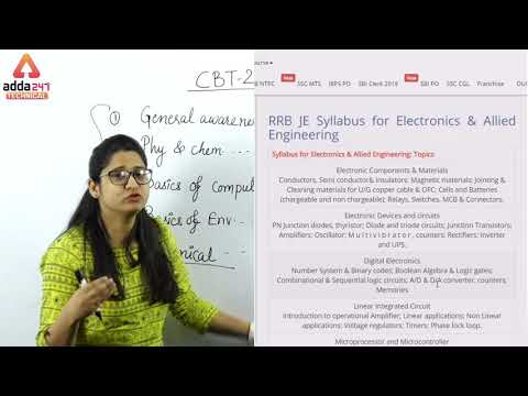 RRB JE CBT 2 | Detailed Syllabus | Electronics & Communication | Anshu Ma'am