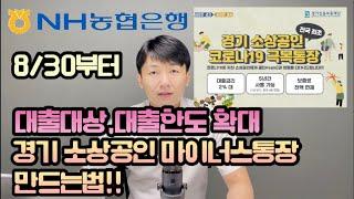 8/30 경기도 소상공인 마이너스대출 대상과 한도가 크…