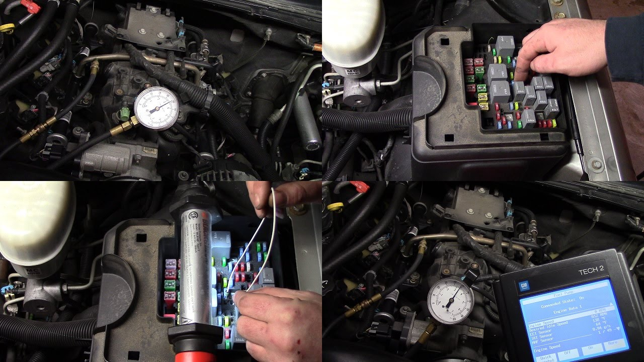 2003 chevy tahoe fuse box diagram 97 expedition 2004 fuel pressure test *flex 5.3 engine (vin z) only* - youtube