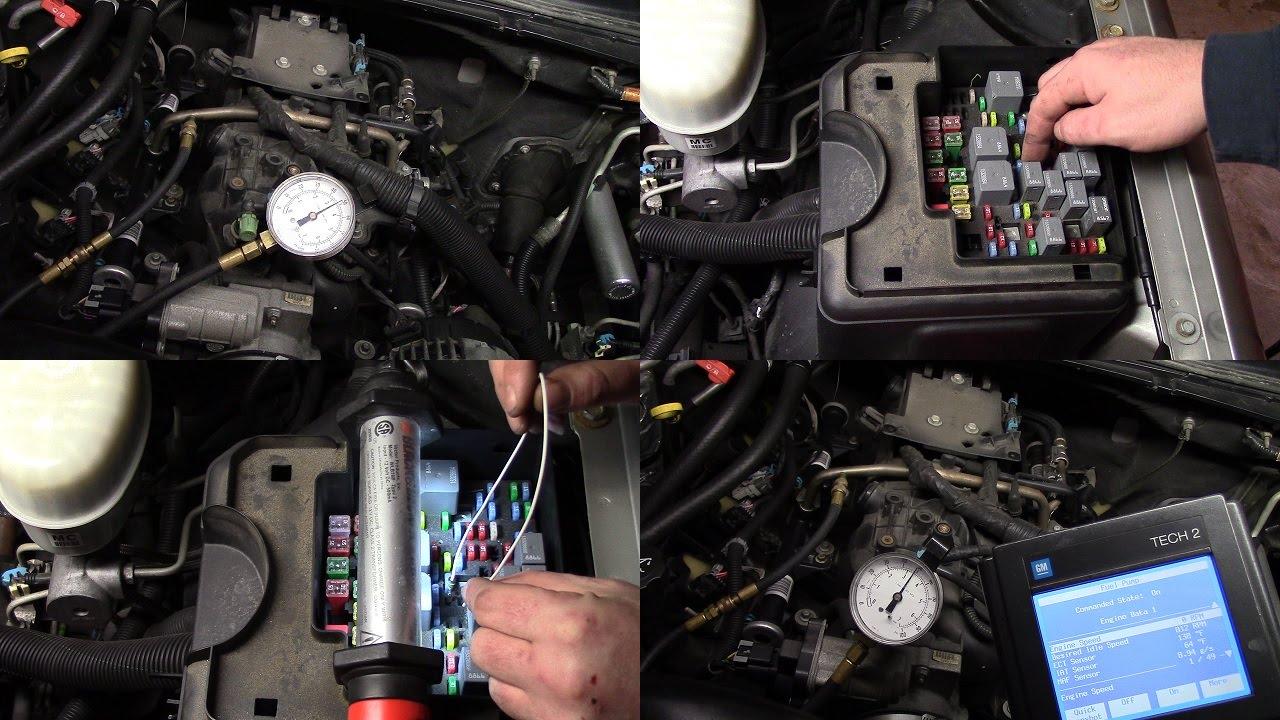 2004 Chevy Tahoe fuel pressure test *FLEX FUEL 53 ENGINE