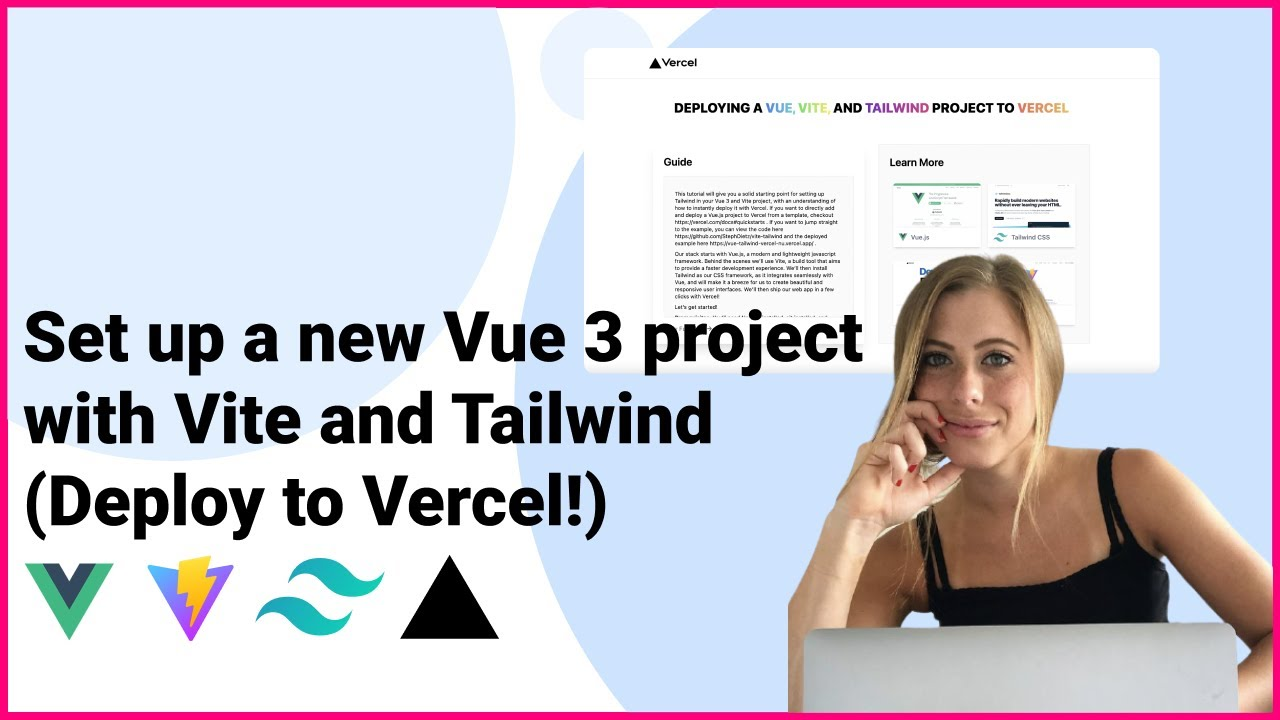 Set up a new Vue 3 project with Vite and Tailwind (Deploy to Vercel!)