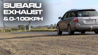 Subaru Legacy 3.0R - 0-100kph + Muffler Delete Exhaust Drive By