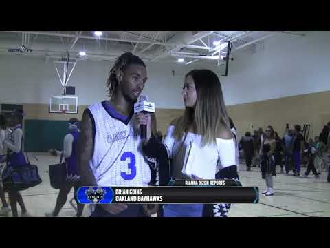 ABA Oakland BayHawk's Post Game Interview with our PLAYER OF THE Game Brian Goins