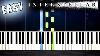 Interstellar - First Step - EASY Piano Tutorial by PlutaX
